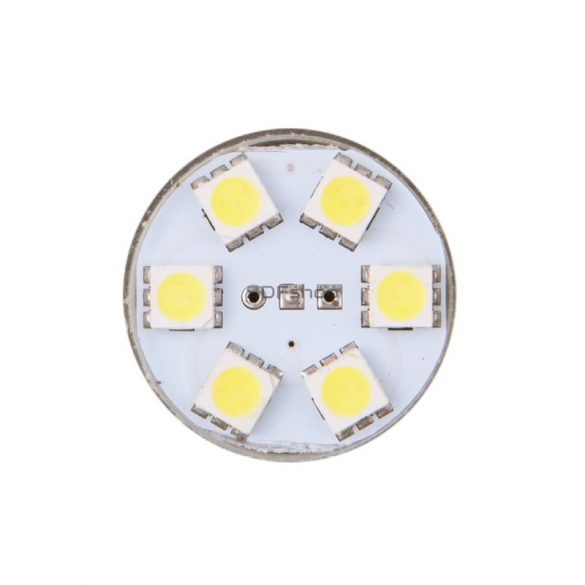 4cars Izzó 6LED 12V S25-5050SMD BA15S, 2 db