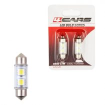 4cars Izzó 2LED 12V FESTOON SMD T11x31mm,36mm, 2 db/bliszter