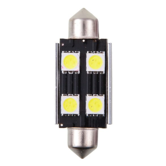 4cars Izzó 4LED 12V FESTOON CANBUS 5050SMD T11x42mm