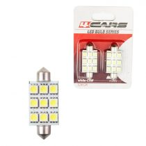 4cars Izzó 9LED 12V FESTOON 5050SMD T11x44 mm, 2 db