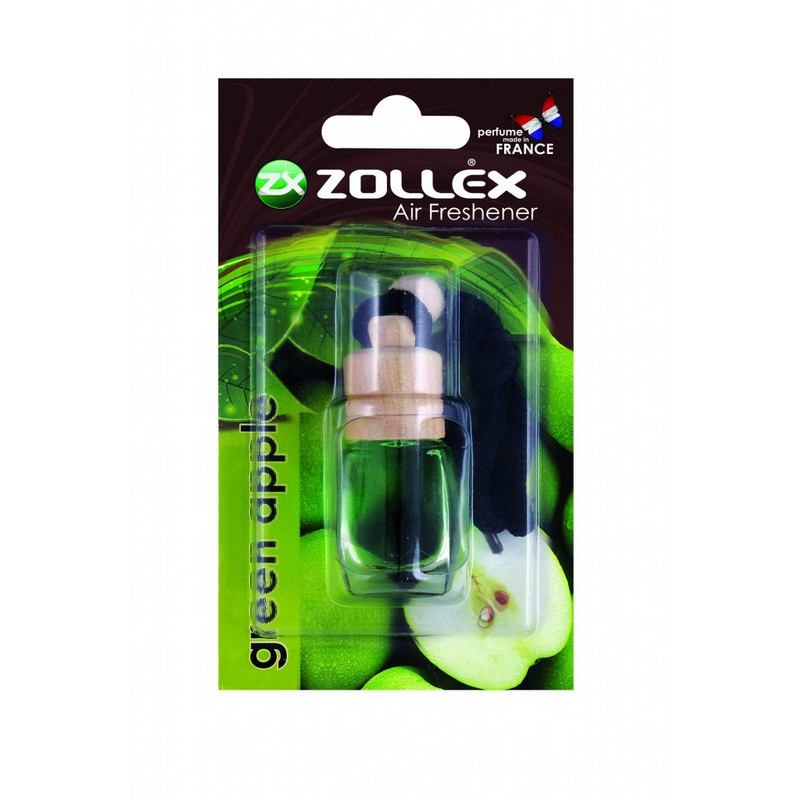 Zollex Green Apple Fakupakos illatosító, 8 ml