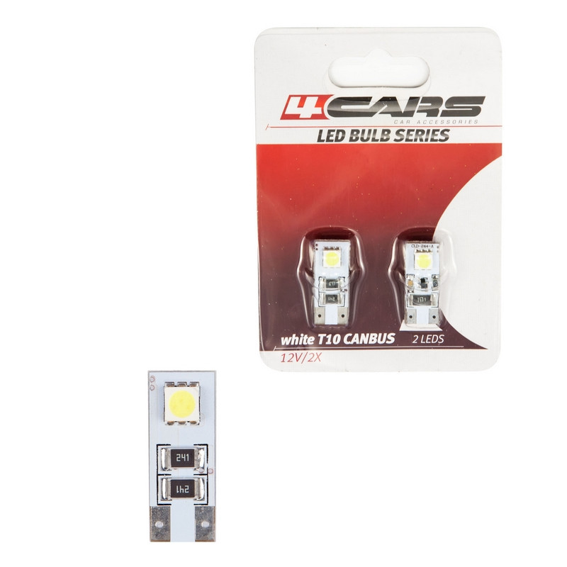 4cars Izzó 2LED 12V CANBUS 5050SMD T10, 2 db